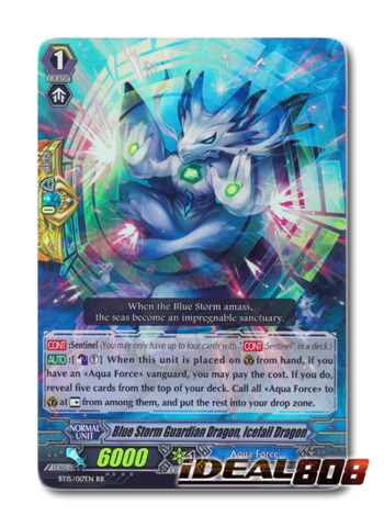 Blue Storm Guardian Dragon, Icefall Dragon - BT15/017EN - RR