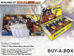 NV01 New Dawn Rises (English) Force of Will Booster Box + FREE Playmat & FoW Top Loaders