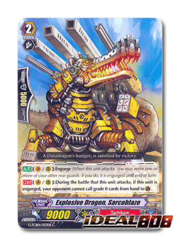 Explosive Dragon, Sarcoblaze - G-TCB01/057EN - C