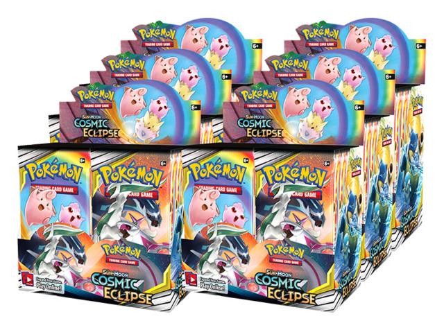 SM Sun & Moon - Cosmic Eclipse (SM12) Pokemon Booster  Case [6 Boxes]