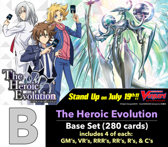 # The Heroic Evolution [V-EB07 ID (B)] Base Set [4 of each GM's, VR's, RRR's, RR's, R's, & C's (280 cards)]