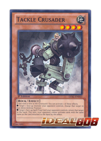 Tackle Crusader - LVAL-EN043 - Common - 1st Edition