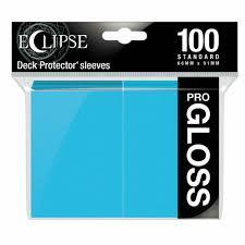Ultra Pro Gloss Eclipse Standard Sleeves 100ct - Sky Blue [#15603]