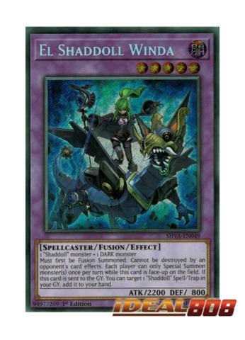 El Shaddoll Winda - SHVA-EN049 - Secret Rare - 1st Edition