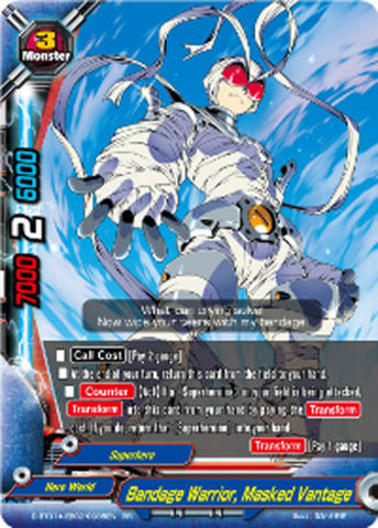 Bandage Warrior, Masked Vantage [D-BT01A-EB02/0005EN RR (FOIL)] English