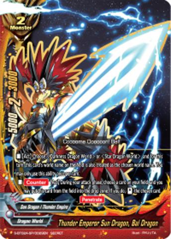 Thunder Emperor Sun Dragon, Bal Dragon [S-BT02A-SP/0029EN Secret (FOIL)] English