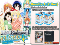 Weiss Schwarz NK Bundle (A) - Get x2 NISEKOI -False Love- ver.E Booster Boxes + FREE Bonus (Sleeves+Deck Box)