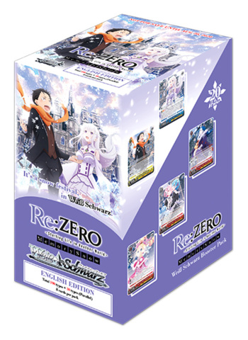 Re:ZERO - Memory Snow (English) Weiss Schwarz Booster Box [20 Packs]