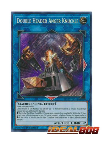Double Headed Anger Knuckle - BLHR-EN048 - Secret Rare - 1st Edition