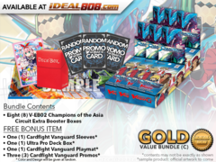 CFV-V-EB02  Bundle (C) Gold - Get x8 Champions of the Asia Circuit Cardfight Vanguard Booster Box + FREE Bonus Items