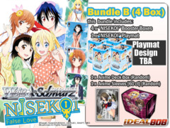 Weiss Schwarz NK Bundle (B) - Get x4 NISEKOI -False Love- ver.E Booster Boxes + FREE Bonus (Playmat+Supplies)