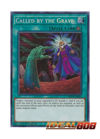 Called By The Grave MP19-EN043 Prismatic Secret Rare 1st Edition NM YuGiOh