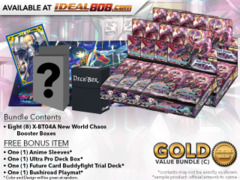 BFE X-BT04A Bundle (C) Gold - Get x8 New World Chaos Booster Box + FREE Bonus Items