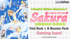 Card Captor Sakura: Clear Card (English) Weiss Schwarz Trial Deck+ (Plus) * PRE-ORDER Ships Feb.22