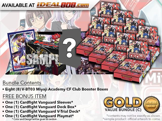 CFV-V-BT03  BUNDLE (C) Gold - Get x8 Miyaji Academy CF Club Booster Box + FREE Bonus Items * PRE-ORDER Ships Feb.15