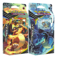 SM Sun & Moon - Team Up (SM09) Pokemon Theme Deck Set - Charizard & Blastoise * PRE-ORDER Ships Jan.28
