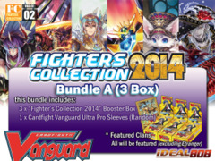 Cardfight Vanguard FC02 Bundle (A) - Get x3 Fighters Collection 2014 Booster Box + FREE Bonus (Sleeves)