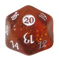 MTG Spindown 20 Life Counter - From the Vault: Twenty (Translucent Orange)