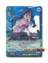 Girl Charmed By a Cat, Tsubasa Hanekawa [BM/S15-E076SP SP (SIGNED FOIL)] English