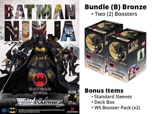 Weiss Schwarz CCS Bundle (A) Bronze - Get x2 Batman Ninja Booster Boxes + FREE Bonus Items