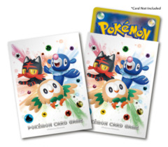 Pokemon Sun & Moon - Card Sleeves (64ct) - Litten, Popplio, & Rowlet [#190587]
