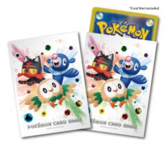 Pokemon Sun & Moon - Card Sleeves (64ct) - Litten, Popplio, & Rowlet [#190587]