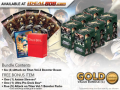 Weiss Schwarz AoT2 Bundle (C) Gold - Get x6 Attack on Titan Vol.2 Booster Boxes + FREE Bonus