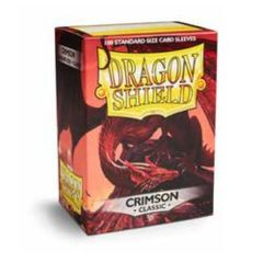 Dragon Shield Standard-size (100ct) Sleeves - Crimson