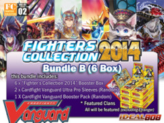 Cardfight Vanguard FC02 Bundle (B) - Get x6 Fighters Collection 2014 Booster Box + FREE Bonus (Pack & Sleeves)