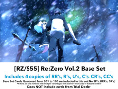 [RZ/S55] Re:ZERO -Starting Life in Another World- Vol.2 (EN) Base Playset [Includes RR's, R's, U's, C's, CR's, CC's (400 cards)]