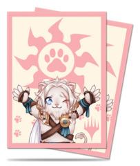 MtG Magic Chibi Collection Deck Protector Sleeves 100ct. - Ajani - Lion Hug [#86907]