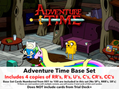 Adventure Time (EN) Base Playset [Includes RR's, R's, U's, C's, CR's, CC's (400 cards)]