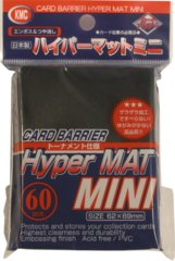 KMC Card Barrier Hyper Mat (60ct) Small Sleeves - Black