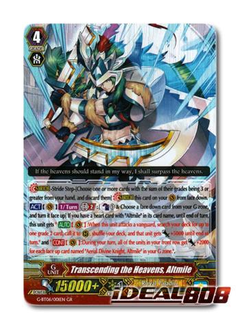 Transcending the Heavens Altmile GR Cardfight 1x G-BT06//001EN