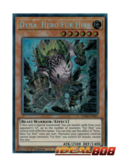 Dyna, Hero Fur Hire - DASA-EN021 - Secret Rare - Unlimited