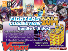 Cardfight Vanguard FC02 Bundle (C) - Get x8 Fighters Collection 2014 Booster Box + FREE Bonus (Sleeves & Playmat)