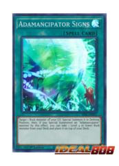 Adamancipator Signs - SESL-EN011 - Super Rare - 1st Edition