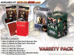 Weiss Schwarz AoT2 Variety Pack - Get x1 Attack on Titan Vol.2 Booster Box & x1 Trial Deck + FREE Bonus