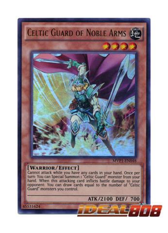 Celtic Guard of Noble Arms - MVP1-EN048 - Ultra Rare - Unlimited Edition