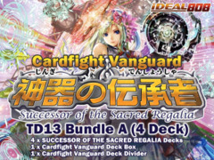 Cardfight Vanguard TD13 Bundle (A) - Get x4 Successor of the Sacred Regalia Trial Decks + FREE Bonus