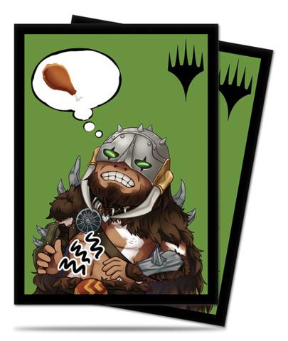Magic the Gathering Chibi Garruk I'm Starving Ultra Pro Sleeve 100ct. (86910)
