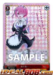Pink-Haired Maid, Ram [RZ/S46-E030SP SP (SIGNED FOIL)] English