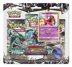 SM Sun & Moon - Celestial Storm (SM07) Pokemon 3 Pack Blister
