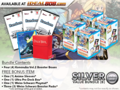 Weiss Schwarz KS Bundle (B) Silver - Get x4 Konosuba Vol.2 Booster Boxes + FREE Bonus Items