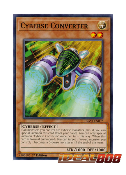 1st Edition 3 x Cyberse Converter SAST-EN092 - Common