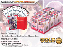 Weiss Schwarz BD Bundle (C) Gold - Get x6 BanG Dream! Girls Band Party! Booster Boxes + FREE Bonus