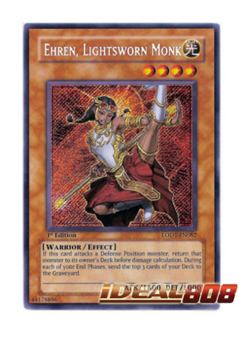 Ehren, Lightsworn Monk - LODT-EN082 - Secret Rare - 1st Edition