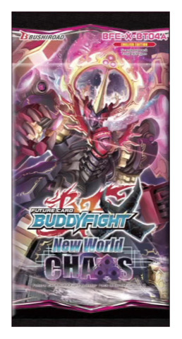 BFE-X-BT04A New World Chaos (English) Future Card Buddyfight X Booster Pack
