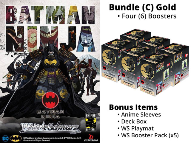Weiss Schwarz CCS Bundle (C) Gold - Get x6 Batman Ninja Booster Boxes + FREE Bonus Items