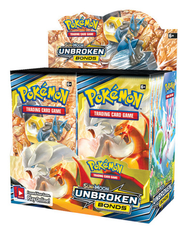SM Sun & Moon - Unbroken Bonds (SM10) Pokemon Booster Box [36 Packs]